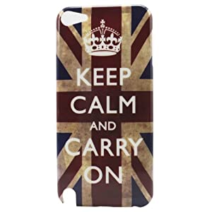 Retro Keep Calm Carry On UK Flag Hard Back Shell Cover Case for iPod