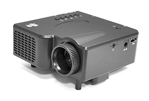 1080p Multimedia Gaming Mini Projector - Full HD Portable Video Cinema Home Theater Projector w/ Built-in Stereo Speaker, HDMI, USB, Adjustable Picture Projection for TV, PC, Computer - Pyle PRJG45_0 (Color: BLACK)