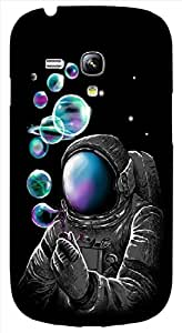 Timpax Protective Hard Back Case Cover With access to all controls and ports Printed Design : A astronaut and bubbles.Compatible with Samsung I8190 Galaxy S3 mini