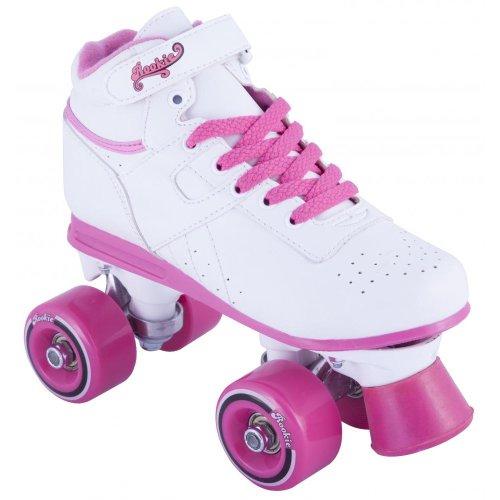 patins roulettes rookie enfant odyssey r les skates blanc rose taille uk 7. Black Bedroom Furniture Sets. Home Design Ideas