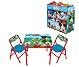 Mickey Mouse Activity Table & Chairs Set and Multi-Bin Organizer
