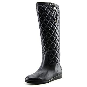 MICHAEL Michael Kors Women's Quilted Leather Knee High Boots, Black, Size 5.5