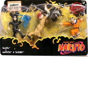 Picture of Mattel Naruto Battle Packs Forest Battle Figure Multi-Pack (B0013FTJAS) (Naruto Action Figures)