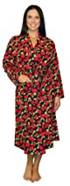 PajamaMania Flannel Robes-Rose-SM