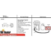 Mr. Heater 90° Propane Regulator with Acme Nut, Acme Nut X 3/8 Inch Pipe Thread #F273761