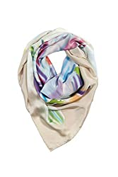 Large Square Silk Head Scarf - Yosemite River - Square Head Scarf Headwraps Scarves for Women Cancer Patients Silk Head Scarf Scarves Head Wrap Mothers Day Gifts Presents Gift Ideas Women Her Wife Mom Mother from Daughter Son Birthday Gifts Ideas Wife Girlfriend Something Special Me Mom AS0027-MTC-U