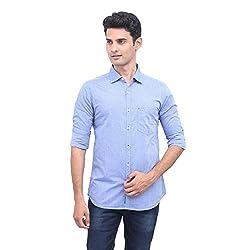 Urbantouch Mens Blue Printed Shirt