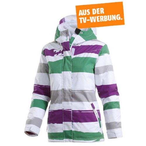 huge discount 70030 39c1f ajaakehomong: Billabong Snowboardjacke Damen, weiß/gestreift, XS