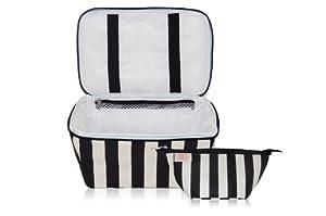 xo(eco) Beauty Pak, Black/Cream Tuxedo Stripe
