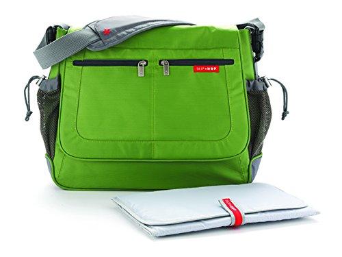 Skip Hop Via Messenger Diaper Bag Green