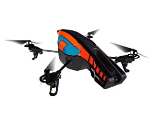 Parrot AR.Drone 2.0 Quadricopter Controlled by iPod touch, iPhone, iPad, and Android Devices -Orange/Blue