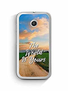 YuBingo The World is Yours Designer Mobile Case Back Cover for Motorola G4
