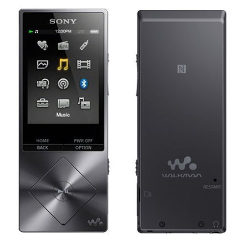 SONY Walkman NW-A25 16G High-resolution sound, Charcoal Black, International English Version, Replaces...