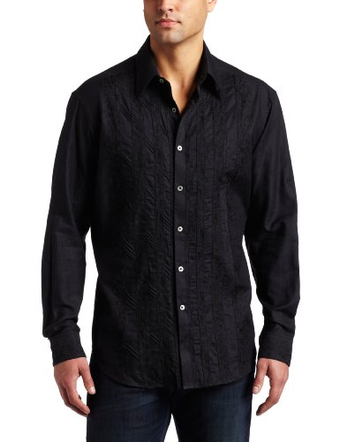 Robert Graham Mens Garifuna Button-down Shirt, Black, XX-Large