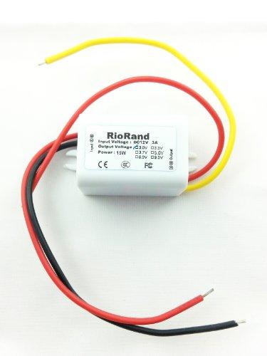 Riorand(Tm) Dc To Dc Converter Inverter 12V To 3V 3A 15W Power Supply For Car Vehicle (White)