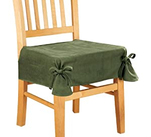 Microsuede Chair Seat Cover with Ties by WalterDrake