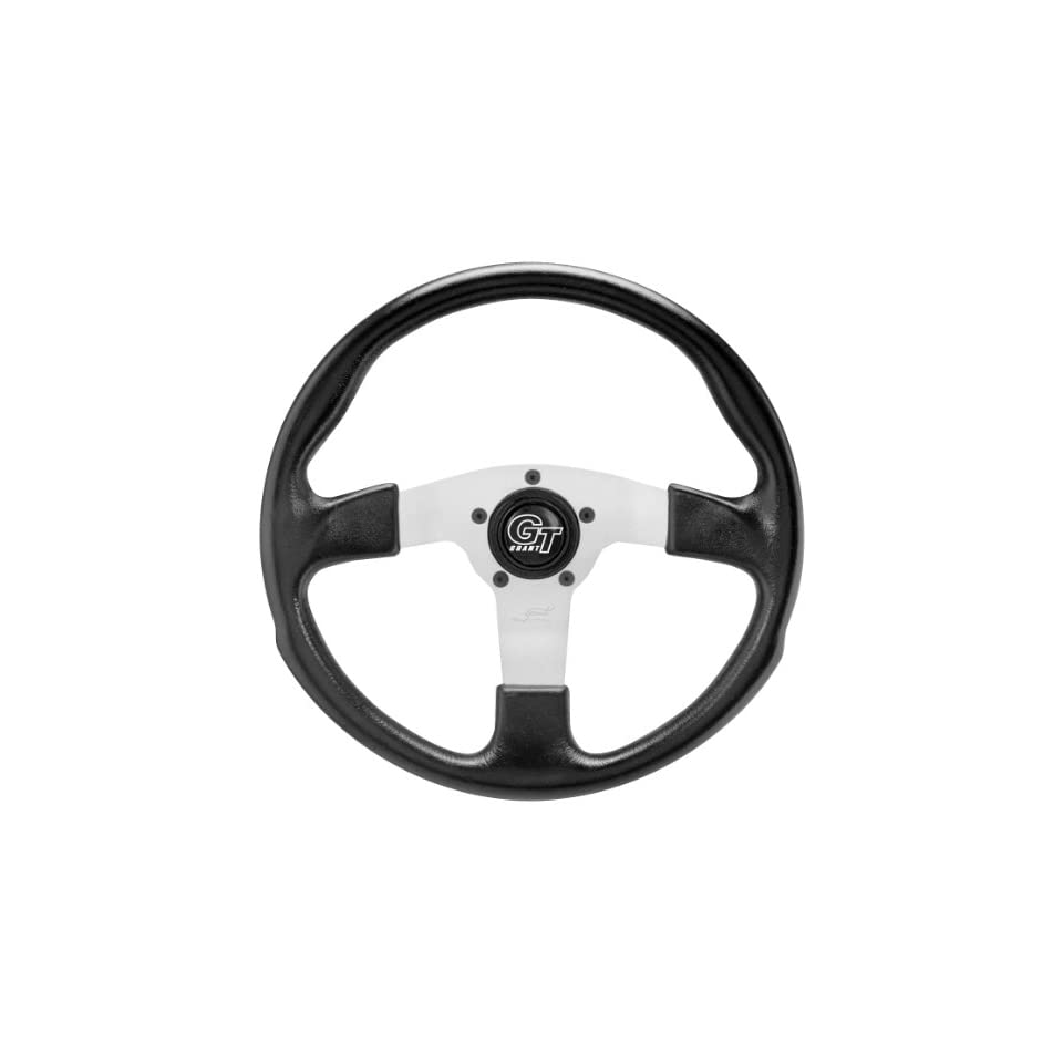Grant GT Rally Steering Wheel   Black/Silver   13.5in. 161 14