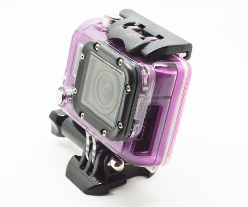Bluefinger Skeleton Protective Housing With Lens For Gopro Hero 3 Open Side For Fpv Without Cable(Color Purple)