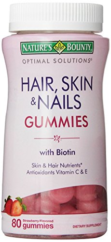 Natures Bounty Optimal Solutions Hair, Skin And Nails Gummies, 80 Count(Pack Of 2)