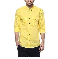 Yepme Men's Yellow Cotton Shirts - YPMSHRT1120_40