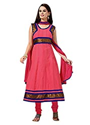 Traditional 2 Trendy Womens Cotton Silk Anarkali Dress Material (Cc1009 -Multi-Coloured -Free Size)