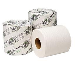 Wausau Paper EcoSoft Universal Bathroom Tissue, 2-Ply, 500 Sheets/Roll - 48 rolls per case.