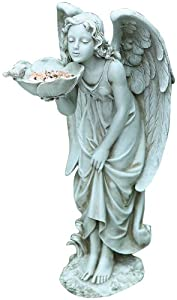 Joseph Studio 40090 Tall Standing Girl Angel Bird Feeder Statue, 17-Inch at Sears.com
