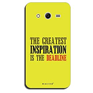 Mozine Deadline Is Inspiration printed mobile back cover for Samsung galaxy ...