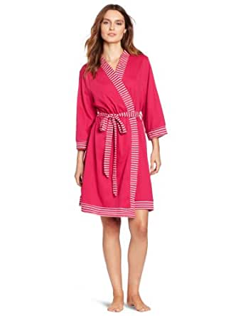 Nautica Sleepwear Women's Kimono Robe, Deep fuschia, Small/Medium