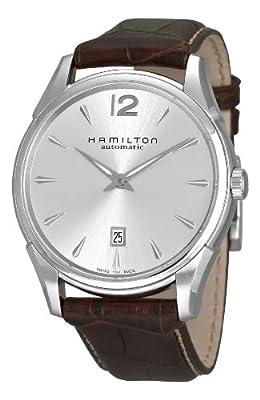 Hamilton Men's HML-H38615555 Jazzmaster Slim Silver Dial Watch
