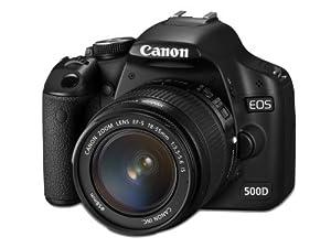 Canon EOS 500D SLR-Digitalkamera (15,1 Megapixel) Kit inkl. EF-S 18-55mm IS (bildstabilisiert) und EF-S 55-250mm IS (bildstabilisiert)