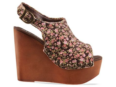 Jeffrey Campbell Snick Fab in Pink Floral Brown Size 10