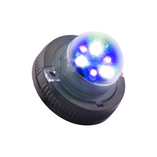 Lamphus Snakeeye Ii-6 Volunteer Firefighter Emergency Vehicle Surface Mount 6W Led Hide-A-Way Strobe Warning Light ( Other Color Available ) - Blue White