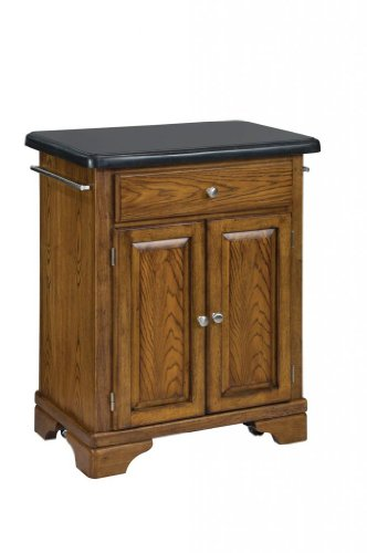 Cheap Kitchen Cart with Black Granite Top in Oak Finish (VF_HY-9003-0064)
