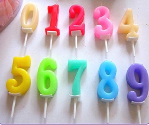 【素敵な時間を演出】 誕生日 や 記念日 に ナンバー キャンドル 10個セット+ HAPPY BIRTHDAY キャンドル 13個セット