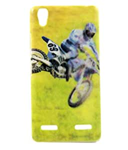 Exclusive Rubberised Back Case Cover For Lenovo A6000 / A6000 Plus + - Stunt Men