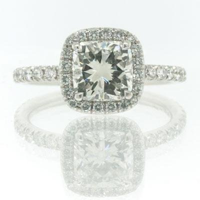 2.51ct Cushion Cut Diamond Engagement Anniversary Ring