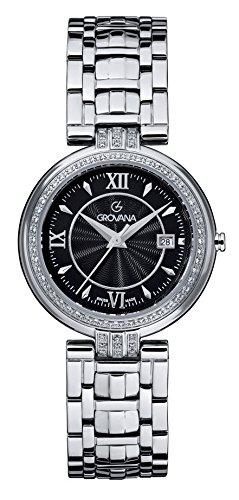 GROVANA 5097,7137 De cuarzo Swiss Unisex reloj infantil con mecanismo de esfera analógica y plateado correa de acero inoxidable de