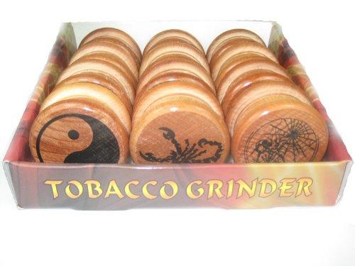 Kitchen Grinders, Resale Pack, 12 Grinders, Wooden Grinder, Herb Grinder, Yin Yang, Wholesale Product, Convenience Store Product, Retail Sales