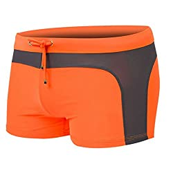 Spades & Clubs Unisex Sexy Elastic Close-fitting Square Swimsuit Short Trunk