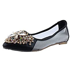 Totes Gallore womens decorated flat ballerina