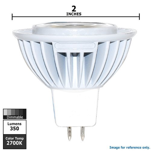 Sylvania 78424 6-Watt Mr16 Dimmable Replacement Bulb For Halogen Wide Led Flood Light
