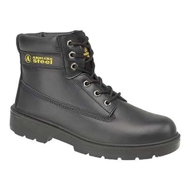 Chaussures montantes de sécurité S1-P Amblers Steel FS112 pour homme (42 EUR) (Noir)