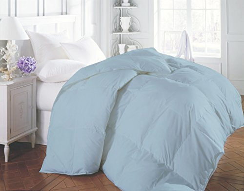 1200 Thread Count Luxurious and Hypoallergenic 100% Egyptian Cotton Duvet Light Blue California King By Kotton Culture Solid (Cocoon Feel 200 GSM Down Comforter with Microfibre filling) (Alternative Down Comfortor compare prices)