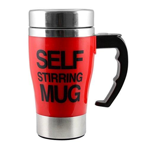 ALAIX che mescola tazza di caffšš - elettrico in acciaio inox automatico Auto di miscelazione Cup - Cute & Divertente, Best for Mattina, Viaggi Red
