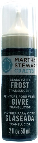 Martha Stewart Frost Translucent Glass Paint, 2-Ounce, Oasis front-408284