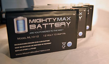 Ml10-12 - 12V 10Ah Schwinn S500 Fs, S-500 Fs Scooter Battery - 3 Pack