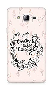 AMEZ creativity takes courage Back Cover For Samsung Galaxy ON7