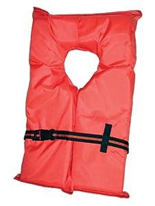 Kent Adult Compliance PFD Type II Life Jacket (Large/3 X-Large, Orange)