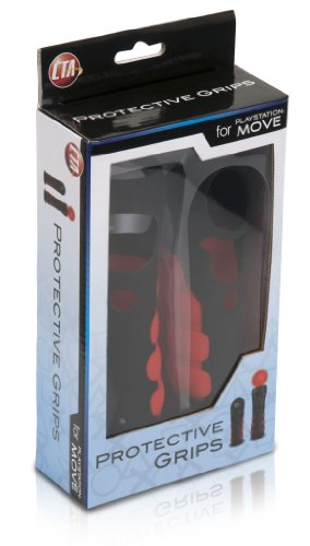 Protective Grips for PlayStation Move Controllers – Black and Red